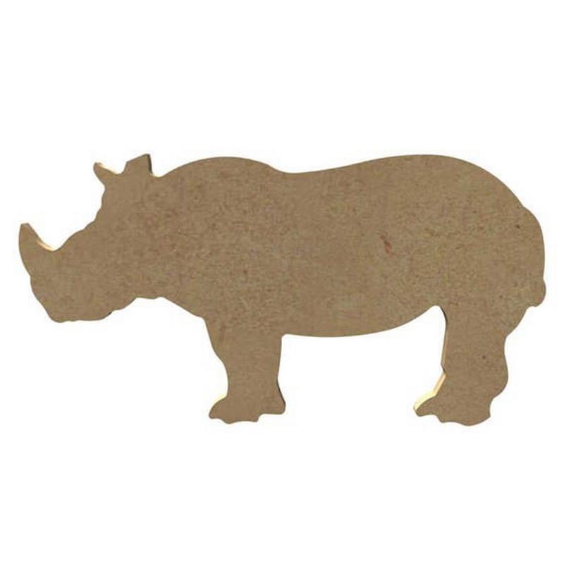 Rhinocéros à décorer - 8 x 15cm - Gomille