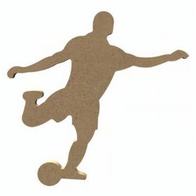Footballeur en bois à décorer - 11 x 18cm - Gomille