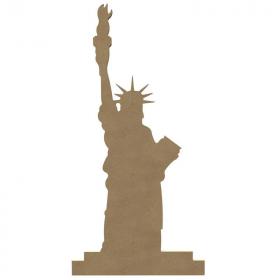 Statue de la liberté à décorer - En bois - Gomille