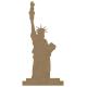 Statue de la liberté en bois à décorer