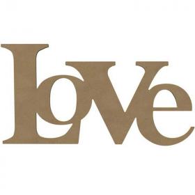 Love en bois à décorer - 29 x 57 cm - Gomille