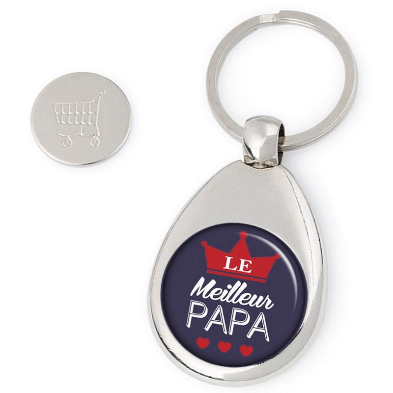 Porte clés jeton de caddie PAPA