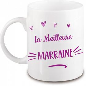 Mug Marraine - Idée cadeau Marraine personnalisé - Demande marraine