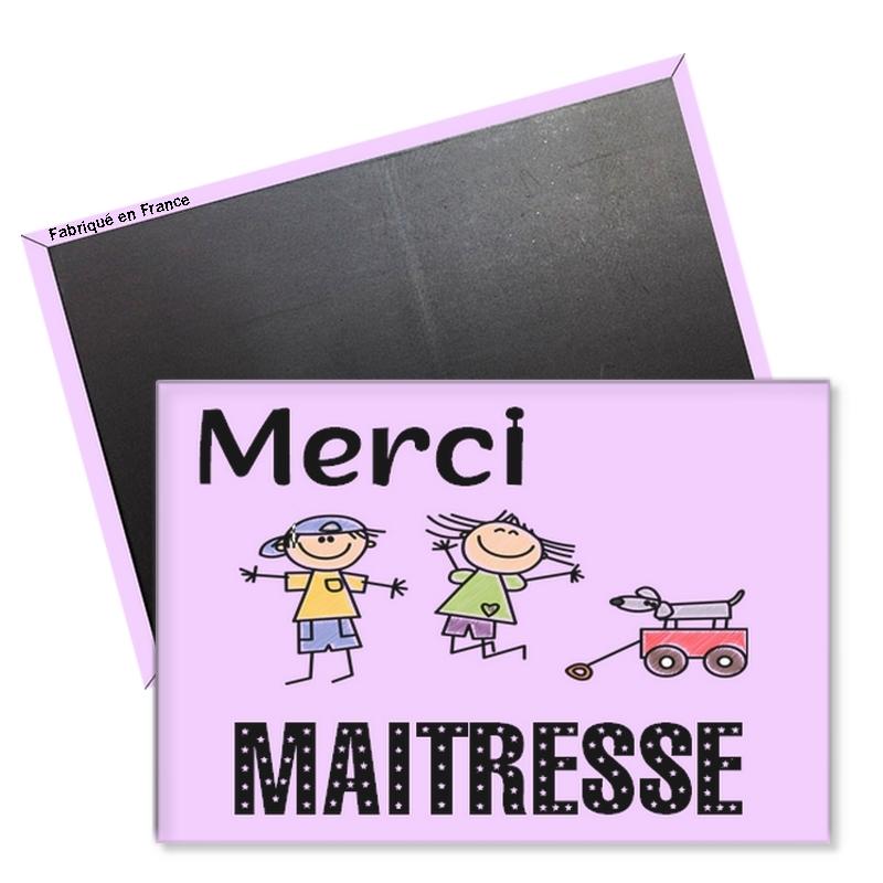 magnet maitresse - Idée cadeau maitresse d'école - Rectangle