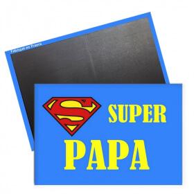 Magnet Super Papa rectangle - Aimant Papa - Idée cadeau papa