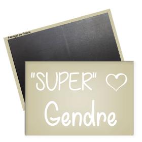 Magnet Super Gendre - Angora - Em création