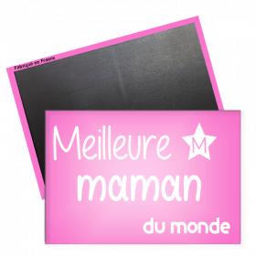Magnet meilleure Maman - magnet frigo maman - Angora - Magnet rectangle - Em création