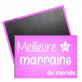 Magnet marraine - magnet rectangle marraine - magnet original marraine - Angora