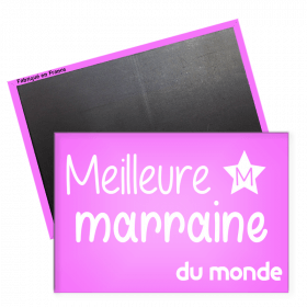 Magnet marraine - magnet rectangle marraine - magnet original marraine - Angora - Em création
