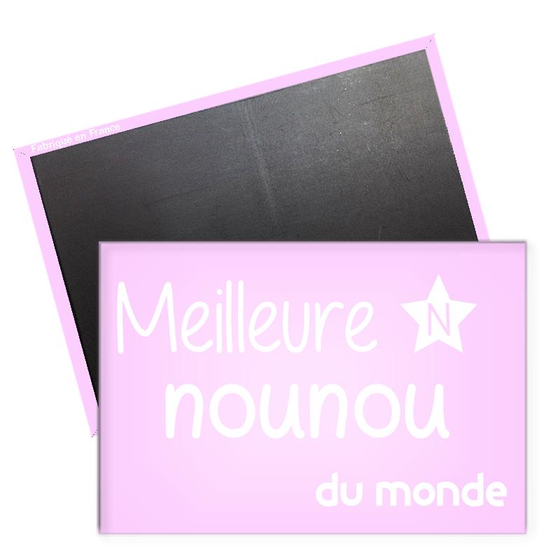 Magnet meilleure nounou - magnet Frigo Nounou - Angora