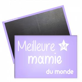 Magnet meilleur mamie - magnet frigo mamie - magnet rectangle mamie -angora - Em création