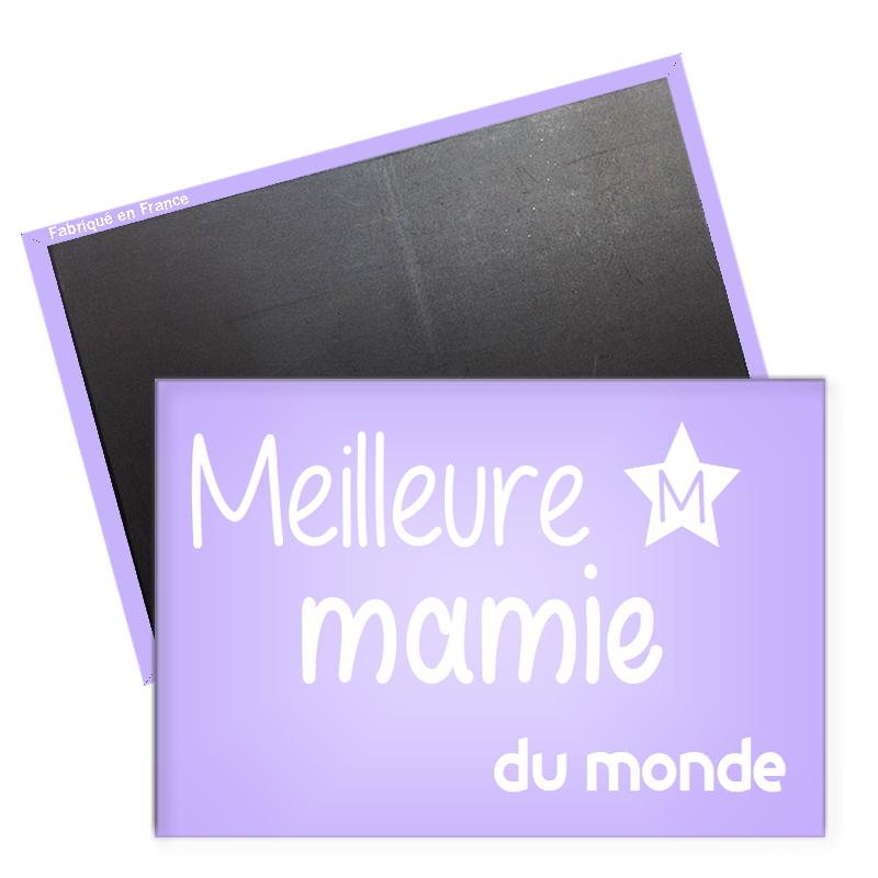 Magnet meilleur mamie - magnet frigo mamie - magnet rectangle mamie -angora