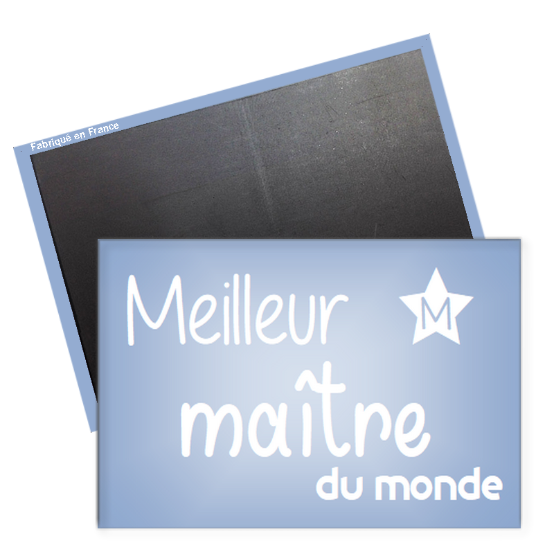 Magnet Maître - magnet rectangle maitre d'école - idée cadeau - Angora
