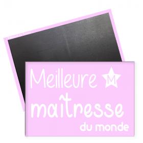 Magnet maîtresse d'école - magnet rectangle frigo maitresse - Merci maitresse - Angora - Em création