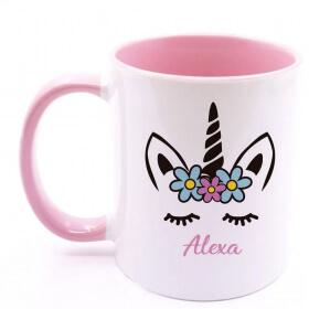 Mug personnalisé rose