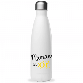 Bouteille Maman en or