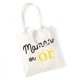 Tote bag maman en or - Angora