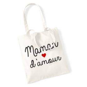 Tote bag Maman d'amour - Angora - Em création