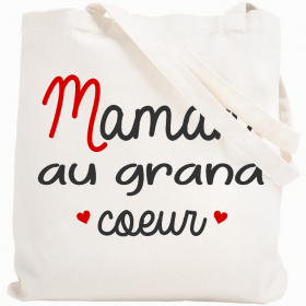 Tote bag Maman au grand coeur