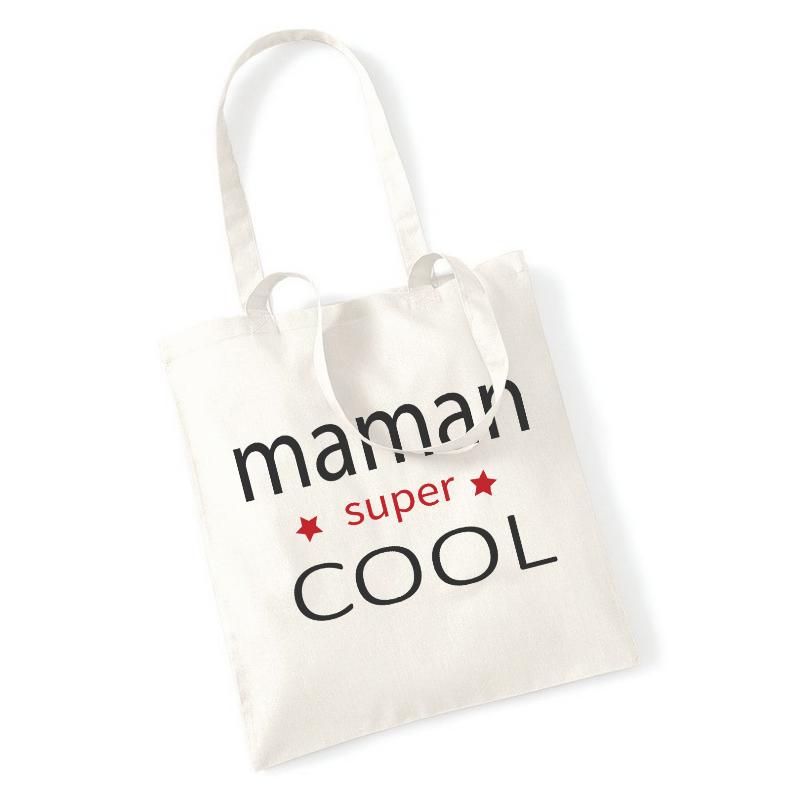 Tote bag Maman SUPER COOL - Angora