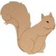 Ecureuil à peindre