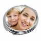 Miroir personnalisé rond à clapet