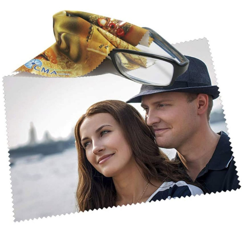 Lingette microfibre pour lunettes personnalisée