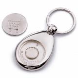 Porte-clés jeton de caddie personnalisable - Dos