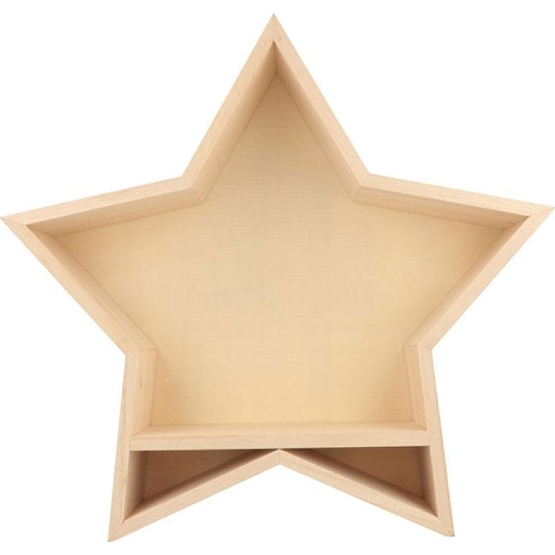 Etagère étoile - En bois