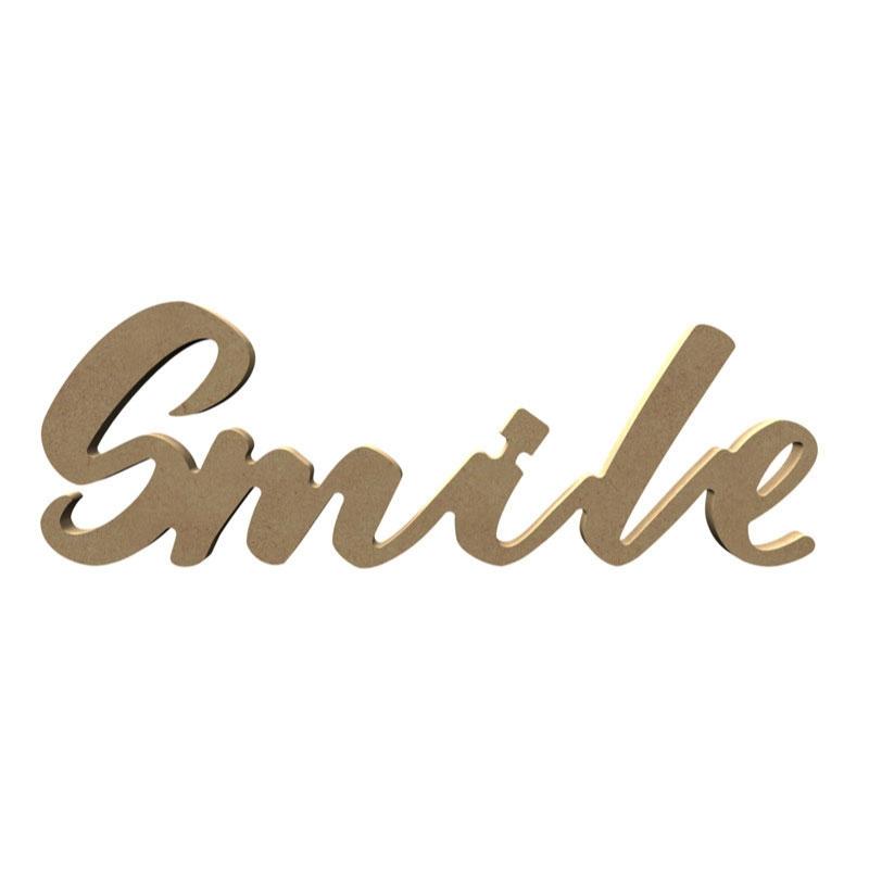 Mot Smile à décorer (sourire) - Gomille