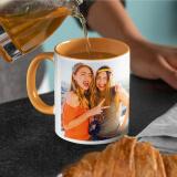 Mug photo orange à personnaliser