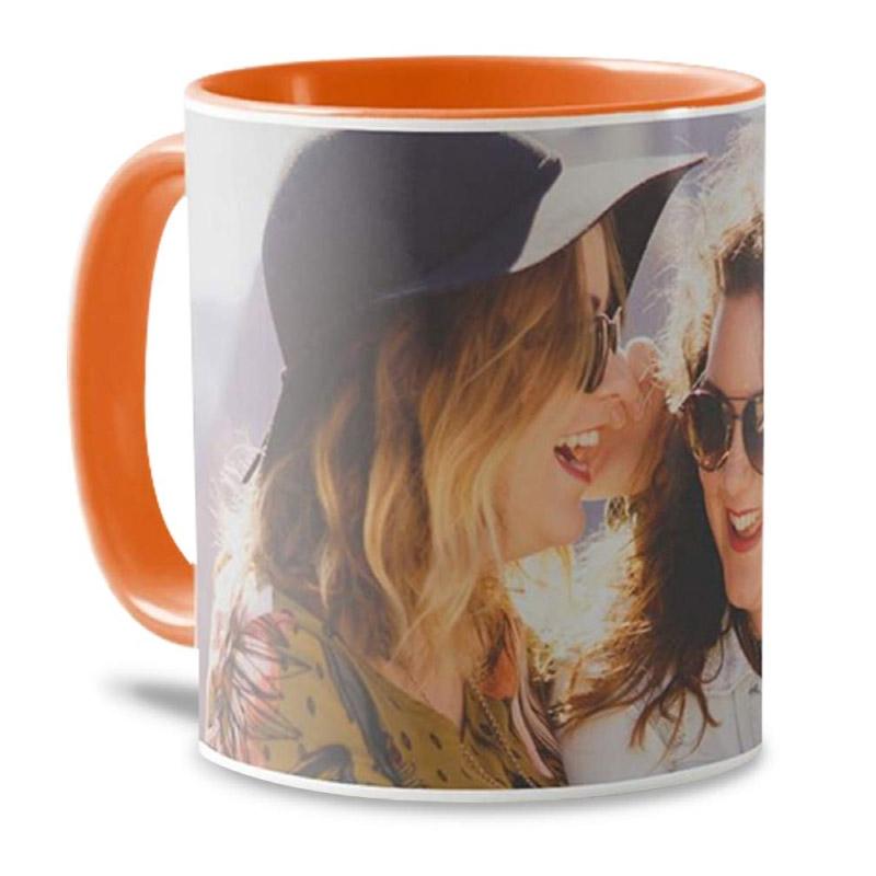 Mug personnalisé orange - Mug photo - Tasse personnalisable orange
