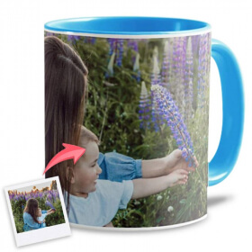 Mug personnalisé bleu ciel
