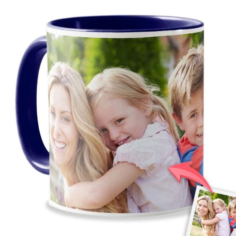 Mug bleu personnalisable - Mug pas cher bleu foncé