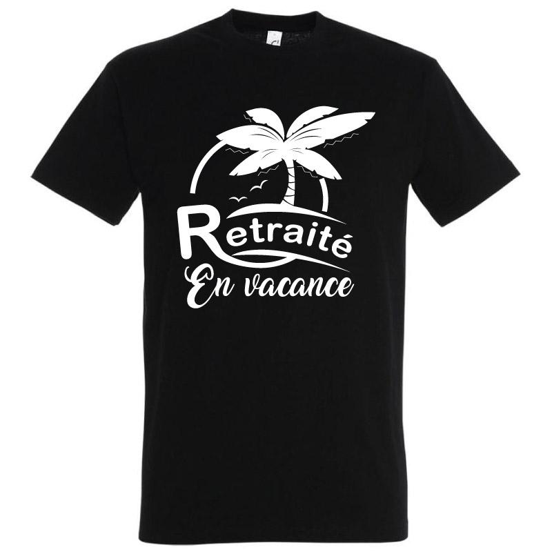 Tee-shirt Retraité en Vacances