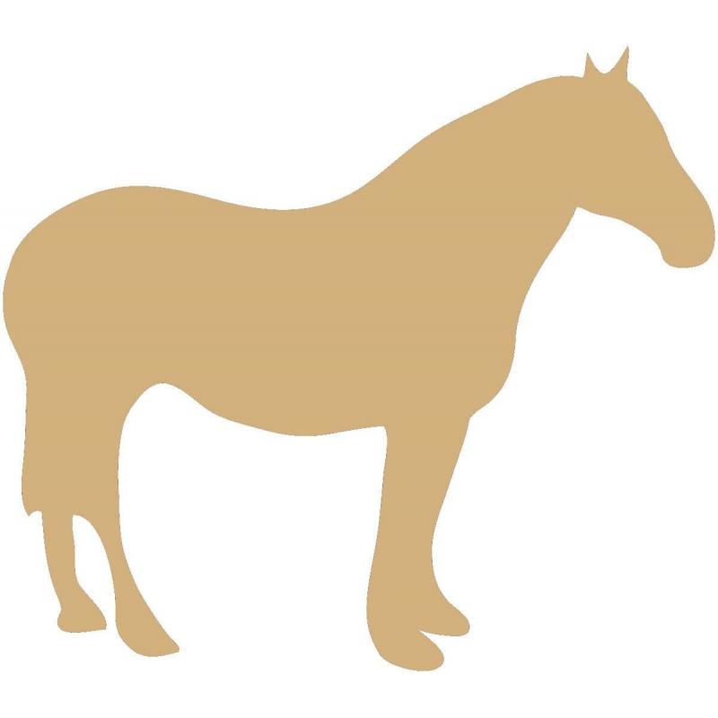 Support en bois à peindre cheval - Em création