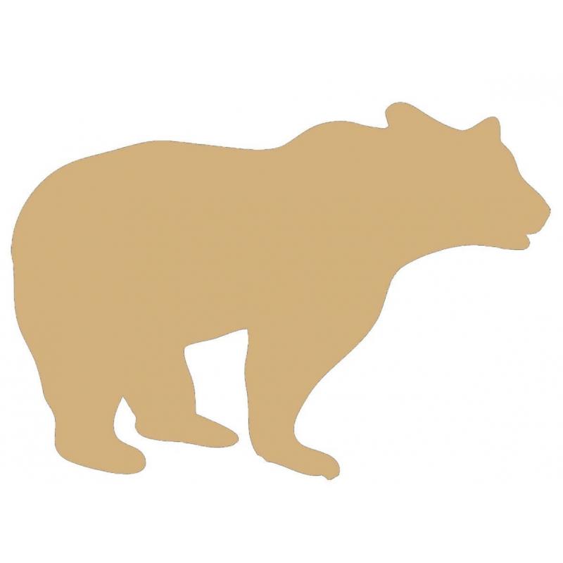 Support en bois à peindre ours - Em création