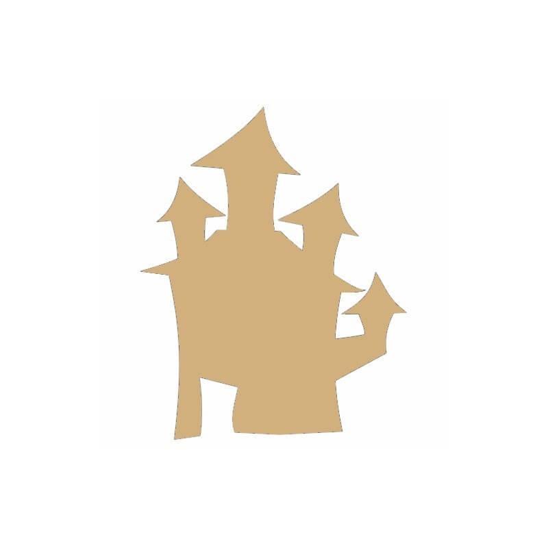 Support en bois à peindre château - Em création