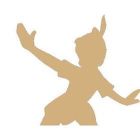 Déco à peindre Peter Pan 18x16