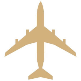 Décoration à peindre Avion 22x19