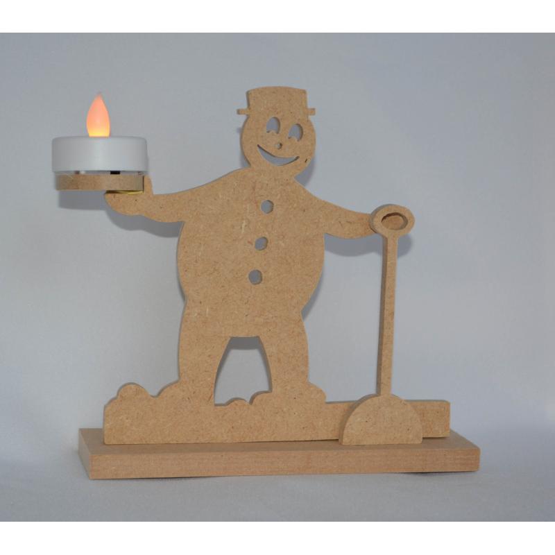 Décoration de Noêl à peindre Bonhomme de neige à poser