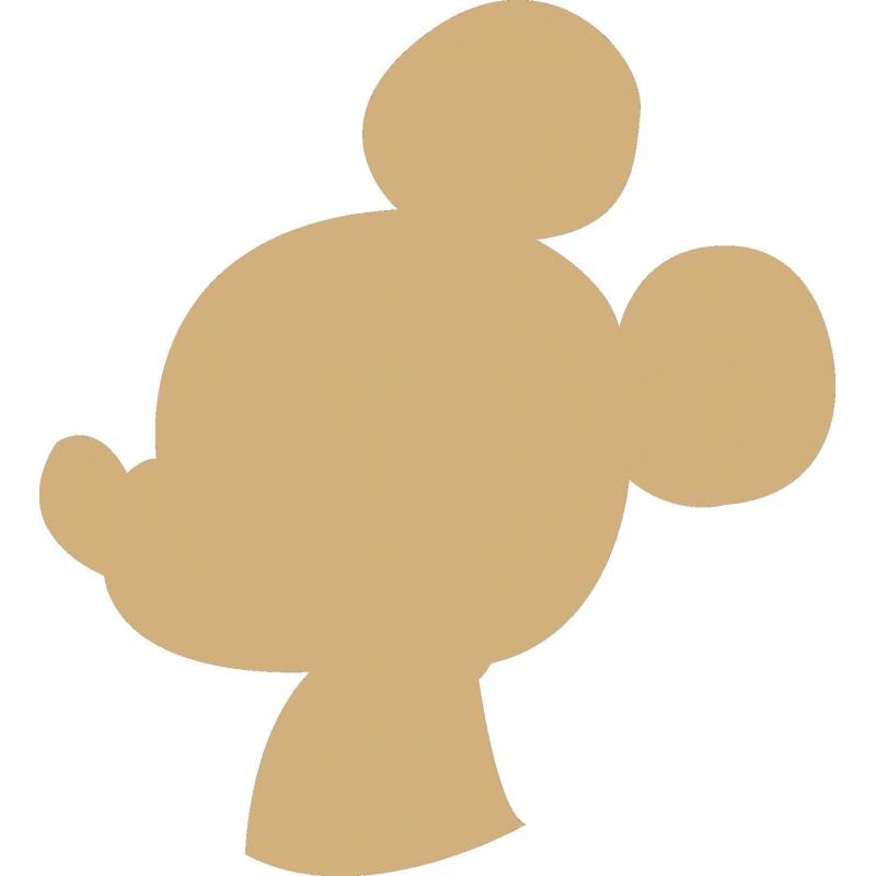 Support en bois à peindre Mickey - Em création