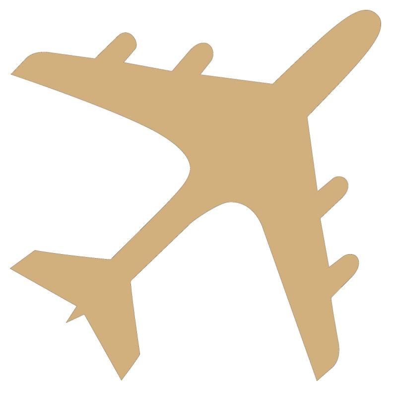 Avion à peindre en bois - Em création