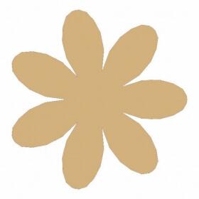 Décoration à peindre Fleur 17x17 cm