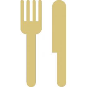 Décoration à peindre Couteau et fourchette