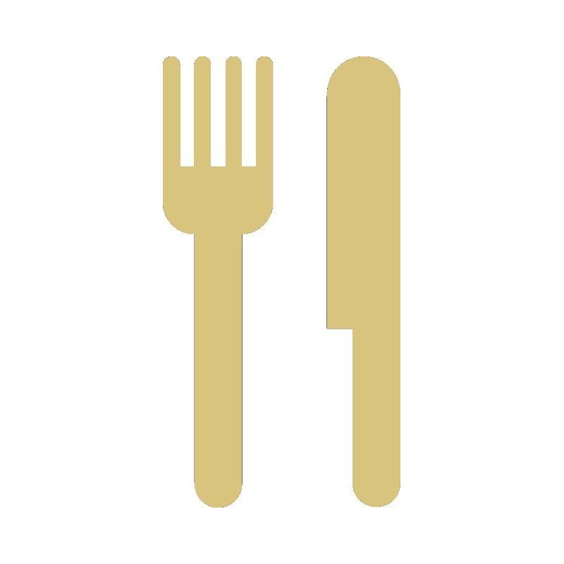 Décoration à peindre Couteau et fourchette - Em création