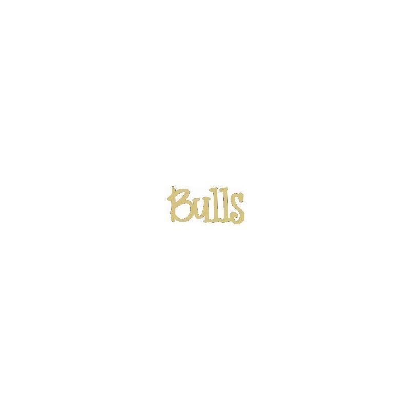 Décoration à peindre Bulls - Em création