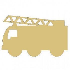 Support en bois à peindre Camion de pompier - Em création