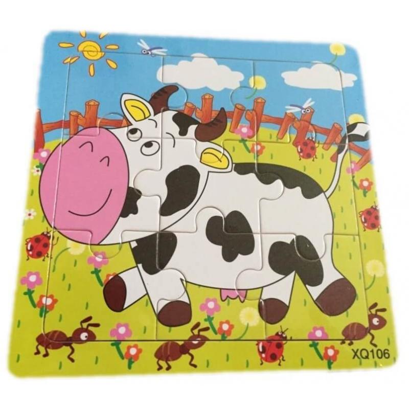 Puzzle en bois Vache de la ferme - Em création