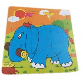 Puzzle en bois 'Eléphant' - Em création